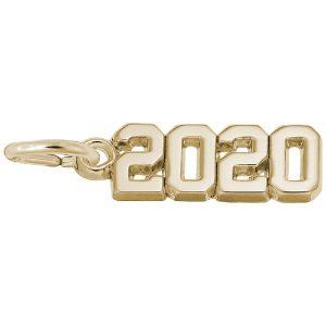 2020 grad charm gold