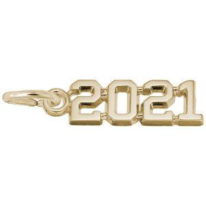 2021 grad charm gold