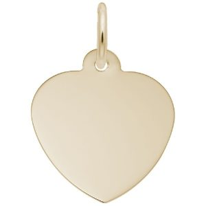 gold Extra Small Classic Heart engravable disc