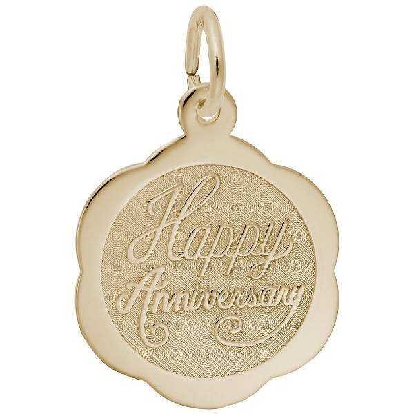 Happy Anniversary Scalloped Disc