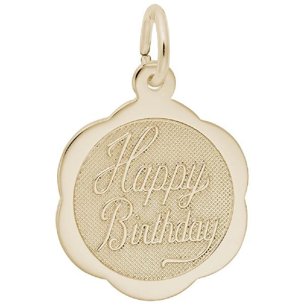 Happy Birthday Scalloped Disc