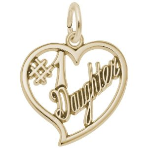 best daughter charm gold