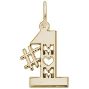 best mom charm gold