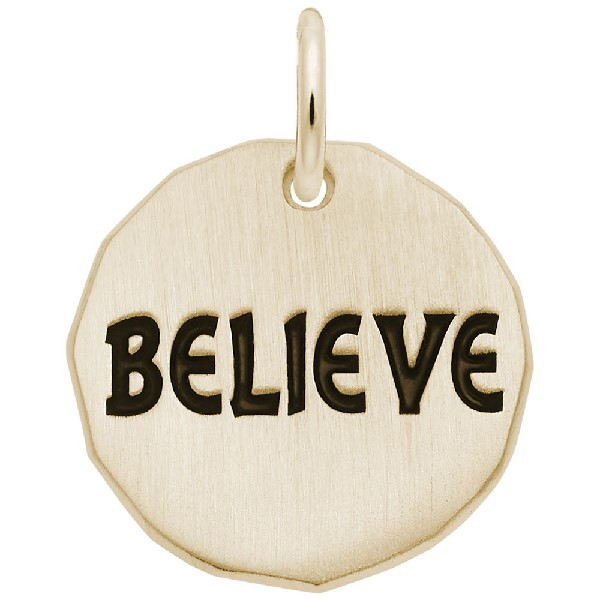 Believe Charm Tag