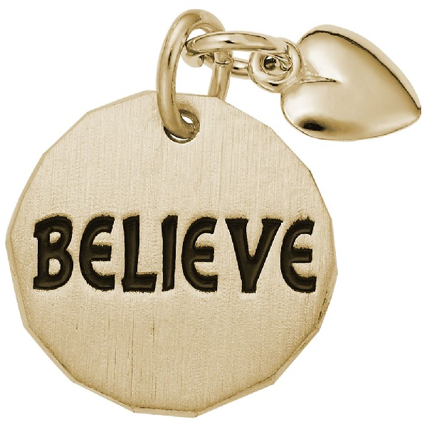 Believe Tag With Heart