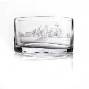 engraved cincinnati scene crystal bowl