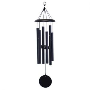 engravable wind corinthian chimes black