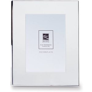 engravable silverplated wide picture frame