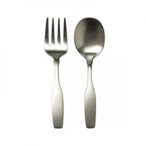 engravable stainless steel flatware two piece set