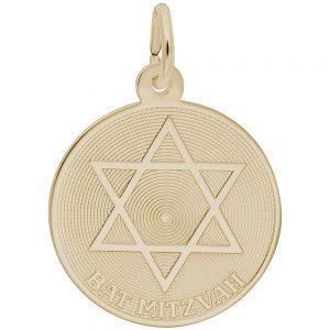 bat mitzvah charm gold