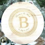 Wooden Lazy Susan Christmas
